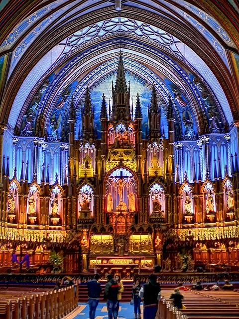Couleurs de la Basilique Notre Dame de Montréal