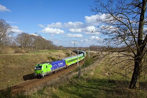 flixtrain vectron br193 treinen trains trenes treni tren railroad züge brandenburg europe europa deutschland duitsland germany spoorwegen genshagenerheideschweineohr
