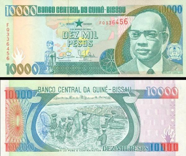 10 000 Pesos Guinea Bissau 1993, P15b