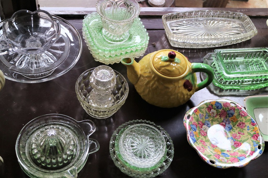 Glass and china, Wheatley's Store, Heritage Village, Fairfield City Museum and Gallery, Smithfield, NSW