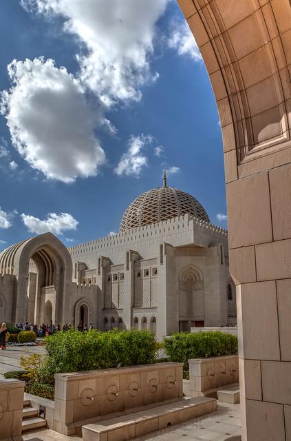 nuages sur la Grande Mosquée du Sultan Qabus 9, Mascate