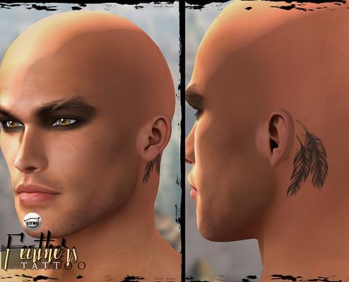 -Birth- 'Feathers' Head Tattoo Catwa Applier