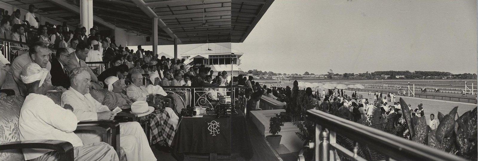 10. На Рангунском ипподроме. Общий вид