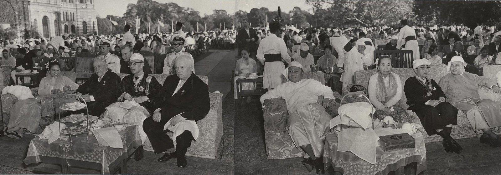 04. На приеме у Президента бирманского союза Ба У. Перед дворцом