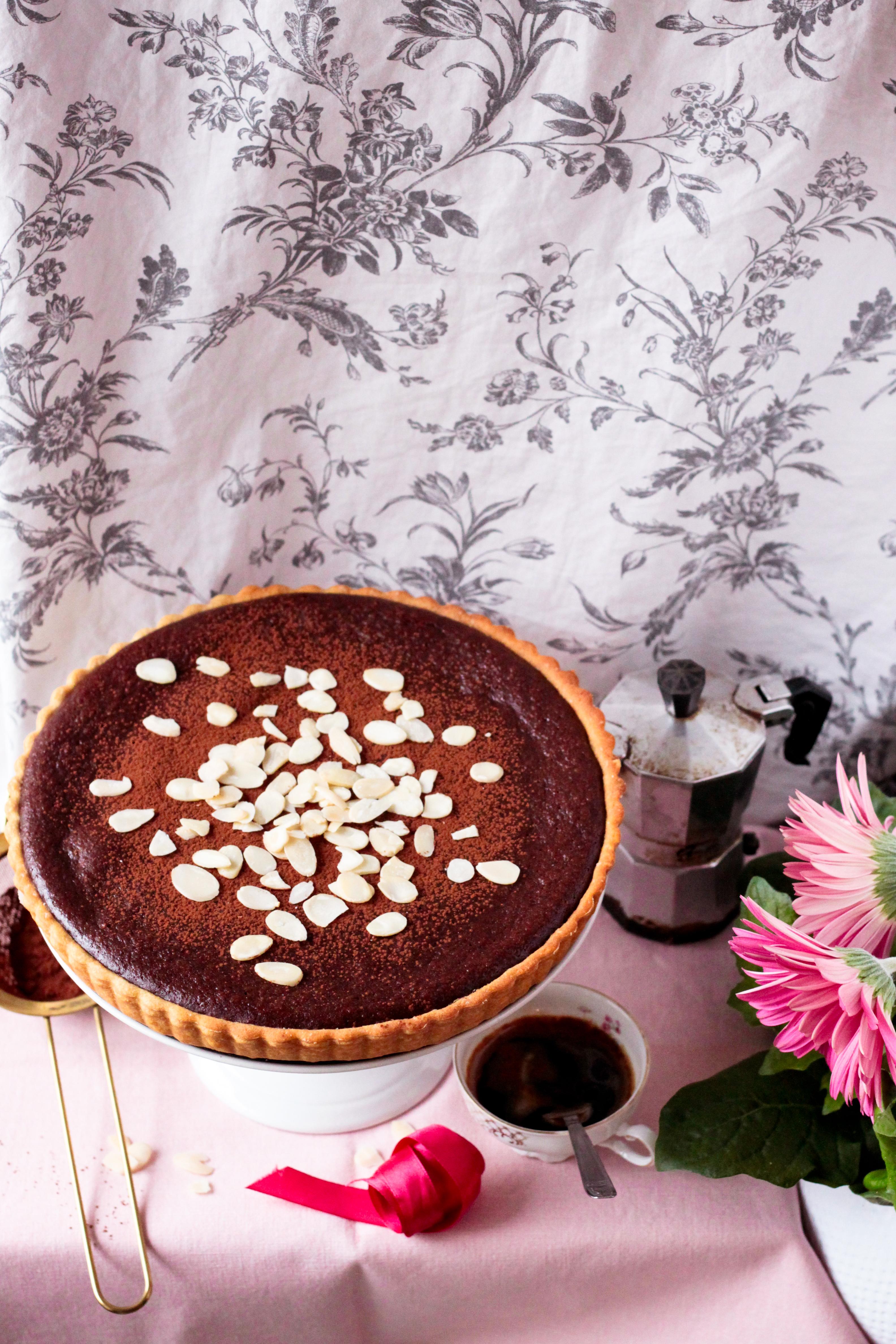 tarte almande chocolat