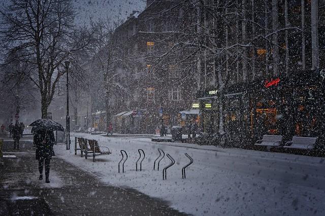 snow drift  in Trondheim