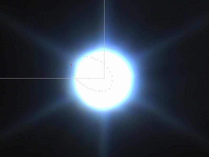 シリウスB撮影失敗 (2020/3/5 21:28) (赤い + がシリウスBの位置)