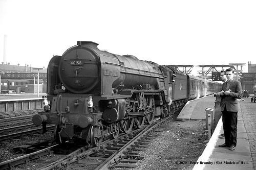 britishrailways peppercorn lner a1 462 60158 aberdonian steam passenger doncaster westyorkshire train railway locomotive railroad