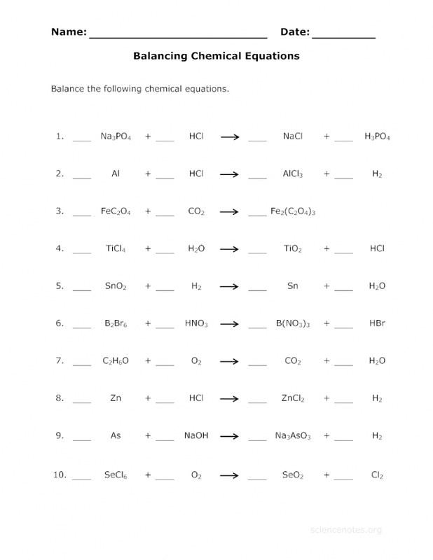 Balancing Equations Practice Worksheet Answers Balancing E… Flickr