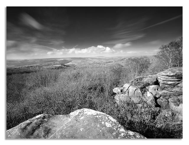 Brimham rocks 2020, looking over to Nidderdale.