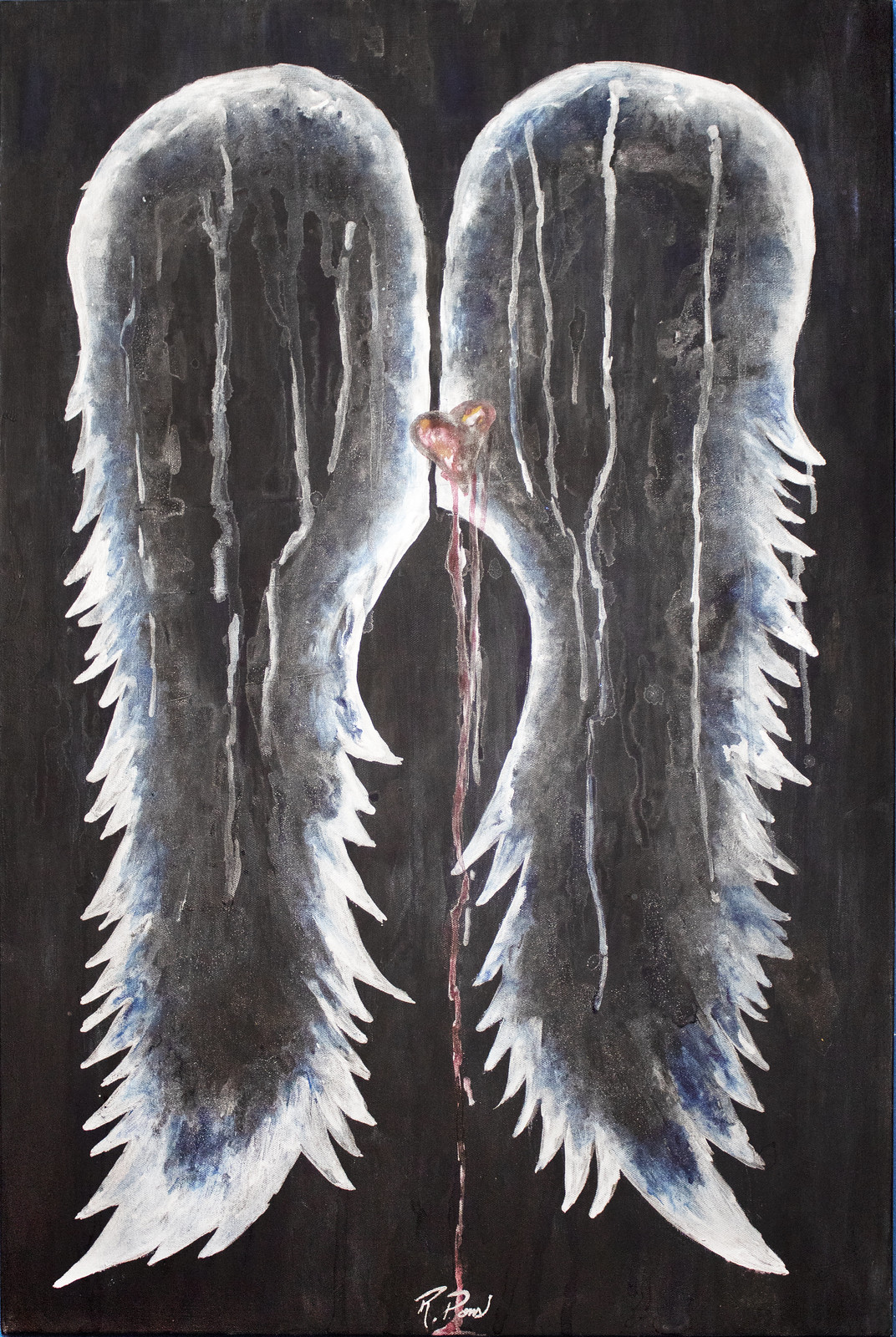 REBECCA PONS, Rebecca Pons, Rebecca Pons Art, Rebecca Pons Studio, Rebecca Pons Re, , watercolor, fine art, WINGS, Wings and Aura collection, WAtercolor Wings, COMMISSION Collection, Artist