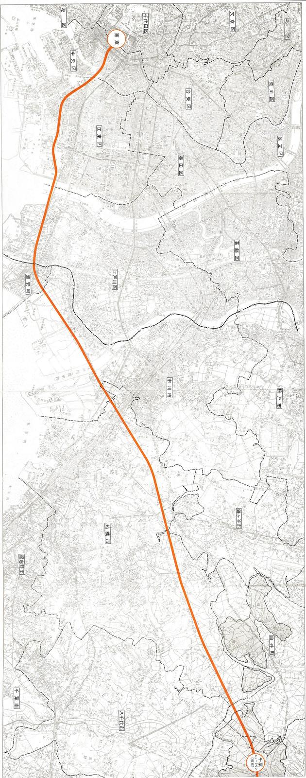 成田新幹線ルート図面 (3)