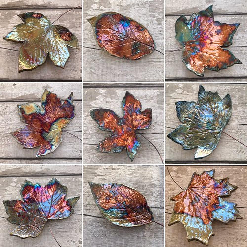 Ceramic leaf wall art from Kiln Fired Art