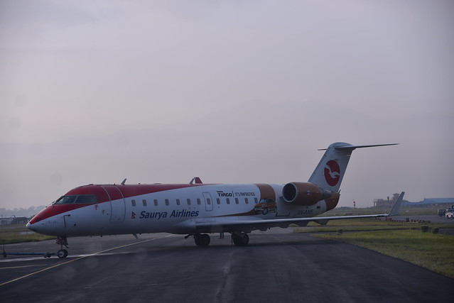 This is a regular commercial flight of Saurya Airlines