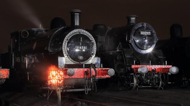 BR / L&YR[ ( Beyer Peacock / Horwich ) Barton Wright / Aspinall Class 23 ( 2F ) 0-6-0ST, '51456' & BR ( Brighton ) Riddles Standard Class 4MT 2-6-4T 80097