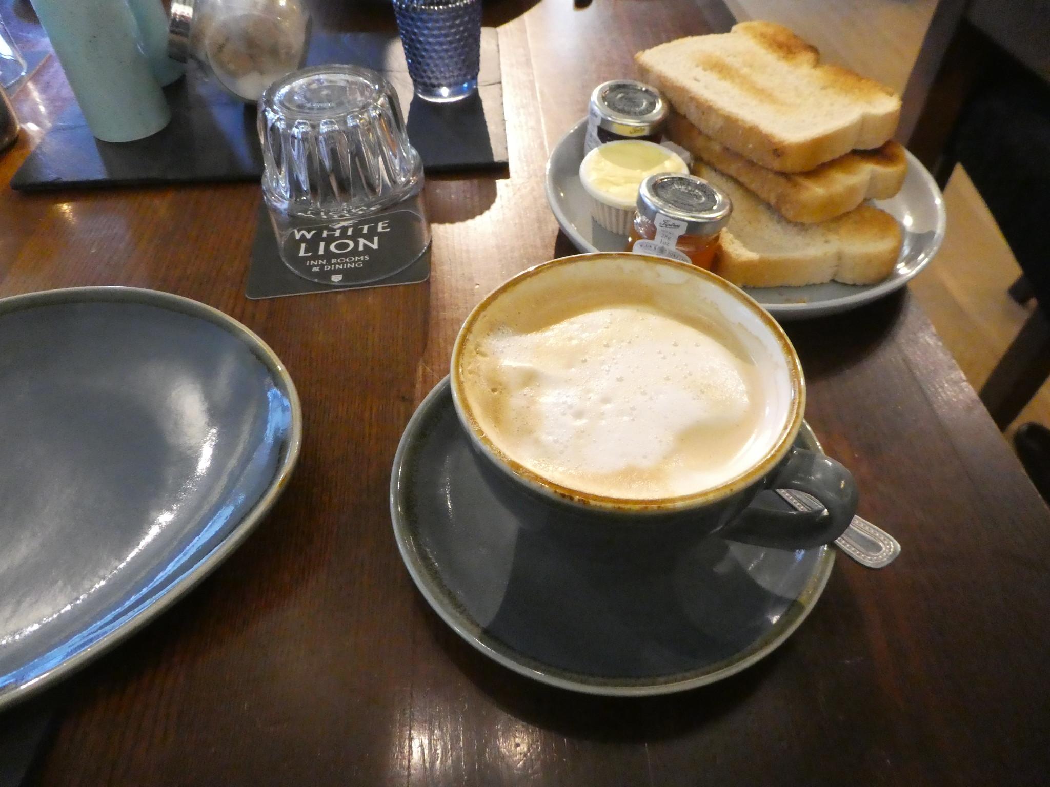 Breakfast at the White Lion Hotel, Hebden Bridge