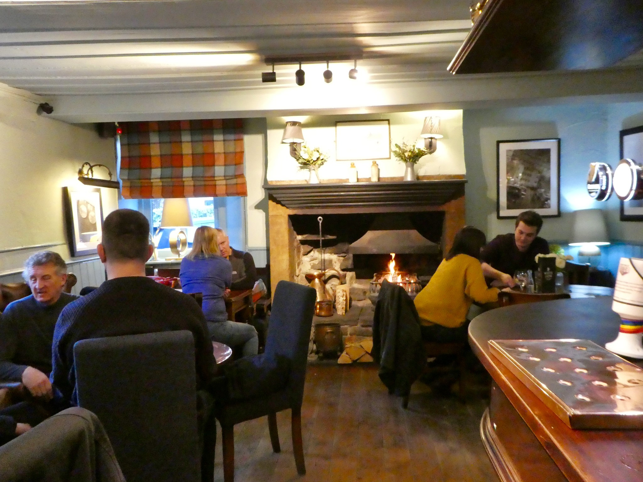 The cosy main bar at the White Lion Hotel, Hebden Bridge