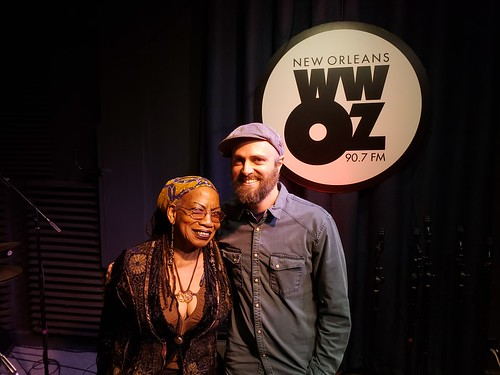 Betty Shirley and Chris Alford at WWOZ - March 5, 2020. Photo by Marion Hill.