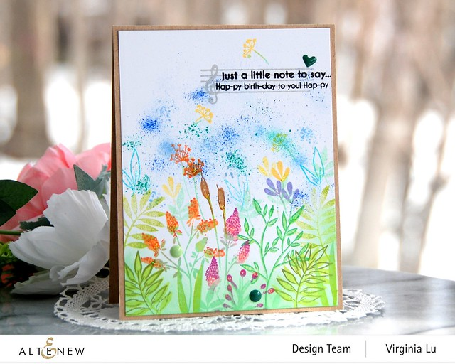 Altenew-Wildflower Doodles Stamp Set-HappyBirthdaytoYou-Virginia#2