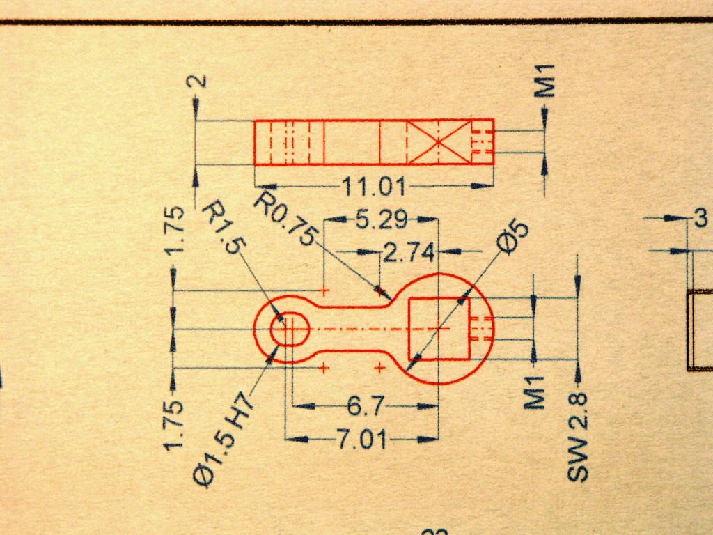 Herstellung eines Mini-Pleuels