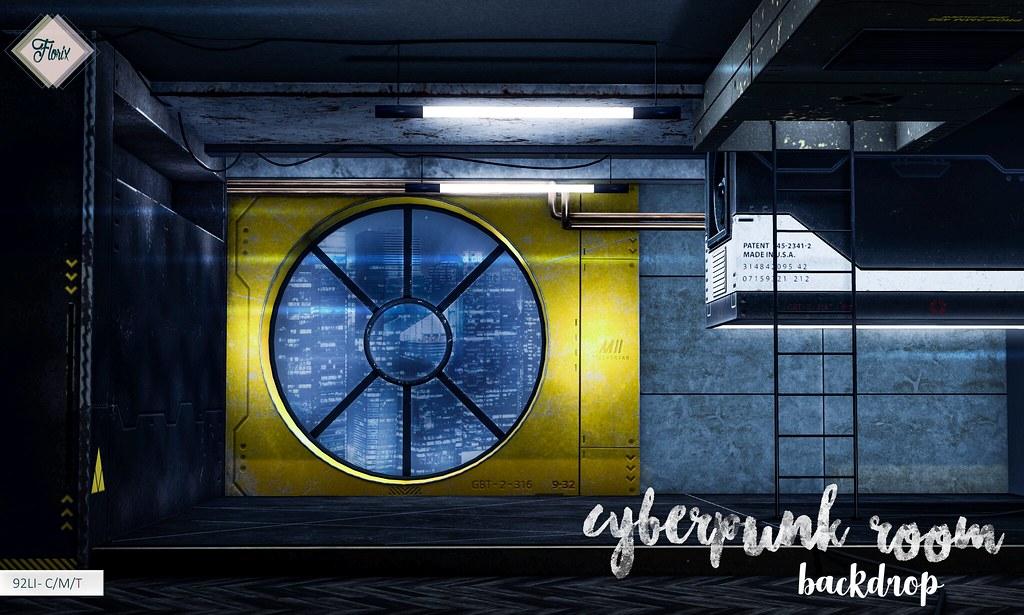 Florix. Cyberpunk Room Backdrop @ Cyber Fair!
