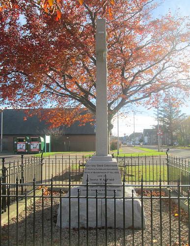 Edzell Boer War Memorial, from North