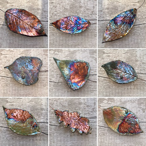 Hanging leaf wall art from Kiln Fired Art