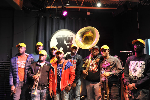 Big 6 Brass Band at WWOZ - March 5, 2020. Photo by Michael E. McAndrew.