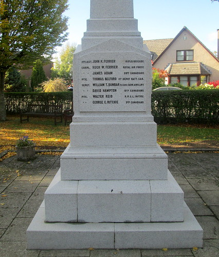 Great War Names, Edzell War Memorial 4