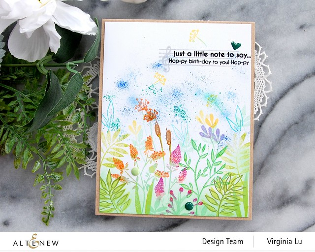 Altenew-Wildflower Doodles Stamp Set-HappyBirthdaytoYou-Virginia#4