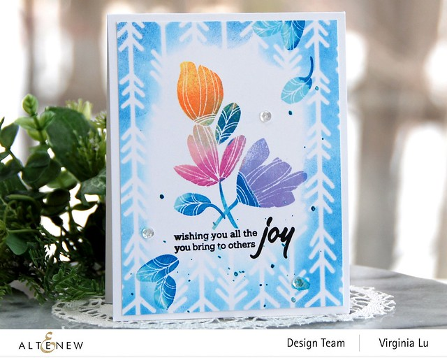 Altenew-Line ArtStamp Set-Virginia#2