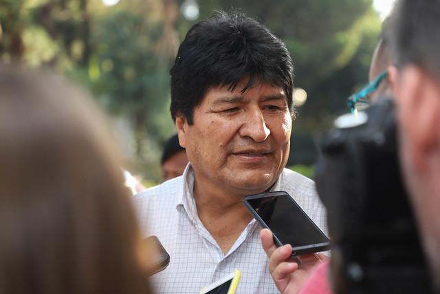 2020-03-06 PRENSA :Saludos protocolares de Evo Morales al Gobernador Sergio Uñac