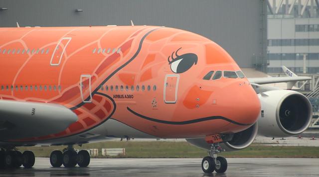 ANA All Nippon Airways, F-WWAL, Reg. JA383A, MSN 266, Airbus A 380-841, 06.03.2020,  XFW-EDHI, Hamburg