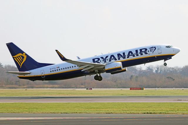 EI-FTJ Boeing 737-800W Ryanair MAN 06MAR20