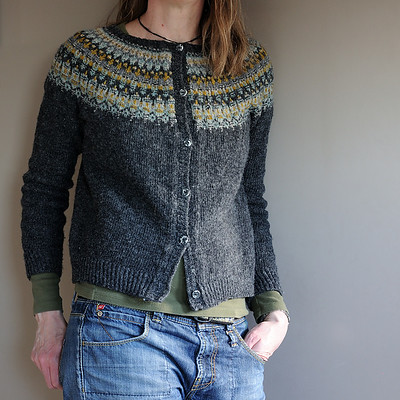 I'd love to make a steeked cardigan version like tanyaev on Ravelry did!