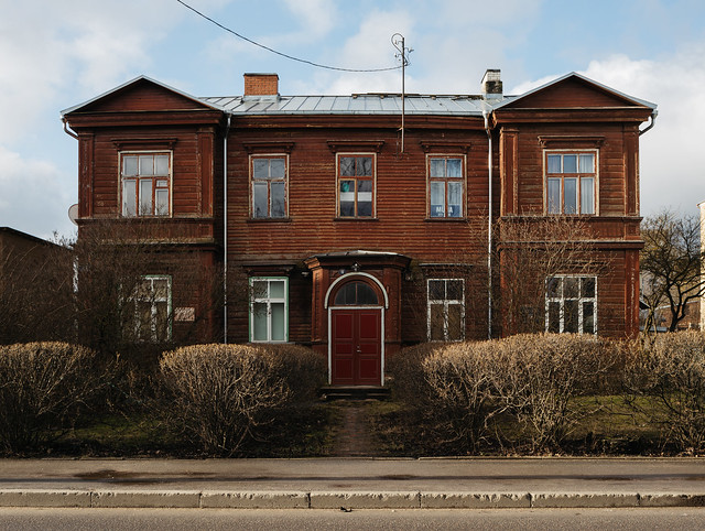 Philosopher's Street, Tartu, Estonia, February 2020