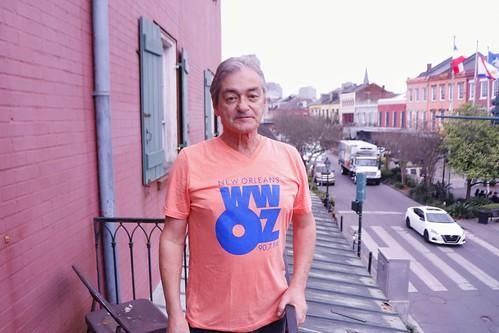 Fall 2019/Spring 2020 WWOZ merch - T-shirt. Photo by Jamell Tate.