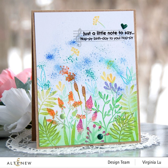 Altenew-Wildflower Doodles Stamp Set-HappyBirthdaytoYou-Virginia#1
