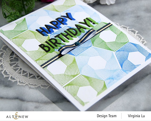 Altenew-Spheres & Spirals Stamp Set-HappyBirthdayTo You Stamp Set-Virginia#4