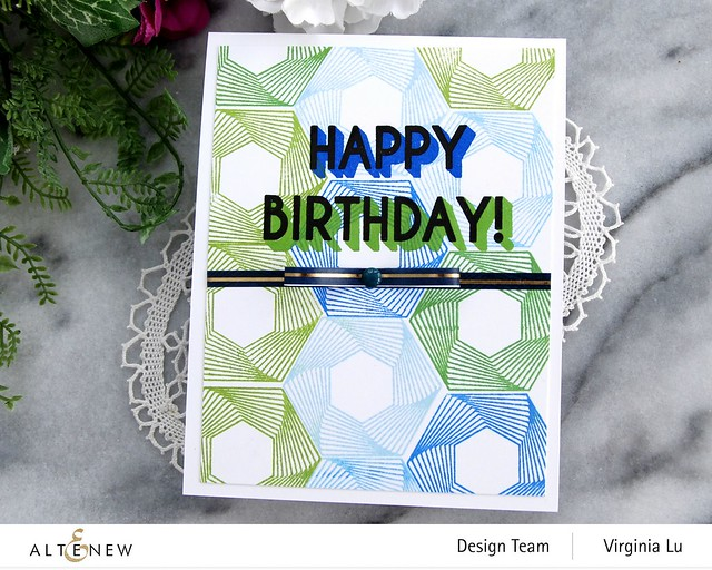Altenew-Spheres & Spirals Stamp Set-HappyBirthdayTo You Stamp Set-Virginia#3