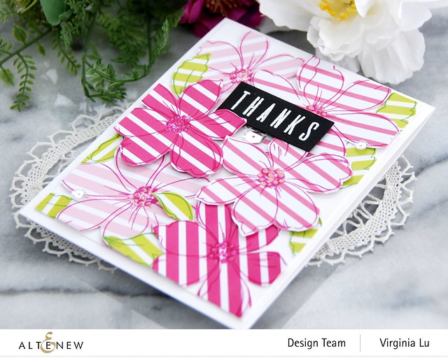 Altenew-Fabulous Florets Stamp Set-A Love for Stripes Set A 6x6 Paper Pack-Virginia#2