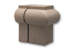 1-1/2 Inch Radius Bullnose Soldier External Corner Modular