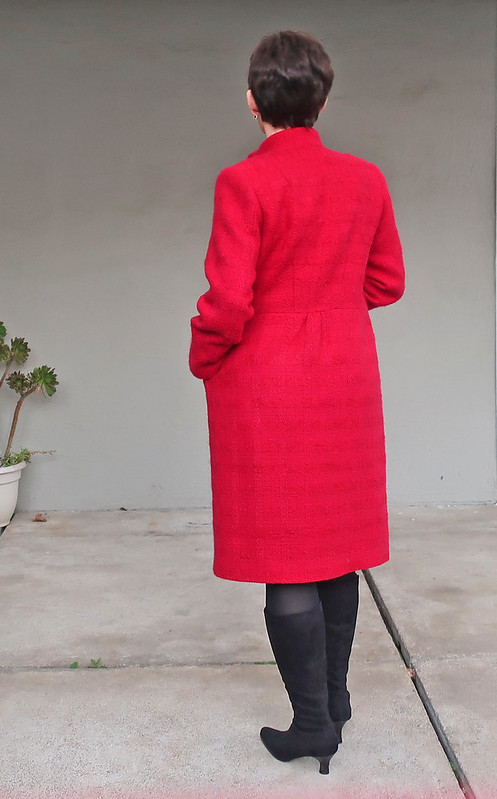 Red coat back view1