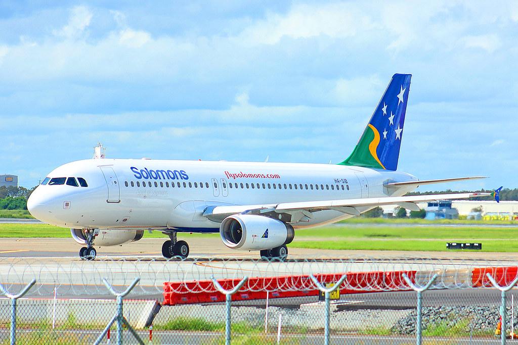 H4-SIB First flight of their new A320.BNE-Munda 07March 2020