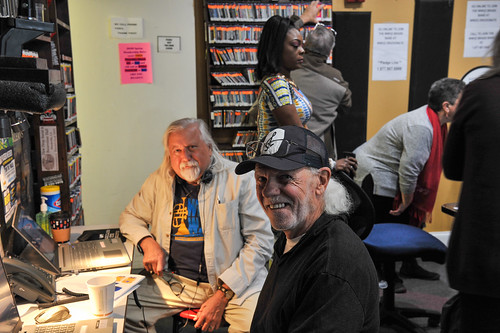 Phone bank at WWOZ - March 5, 2020. Photo by Michael E. McAndrew.