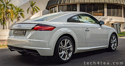 The Audi TT Coupé 2.0 TFSI S tronic hits 100kph in 5.9 seconds.