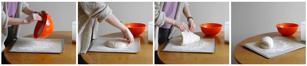 shaping final dough