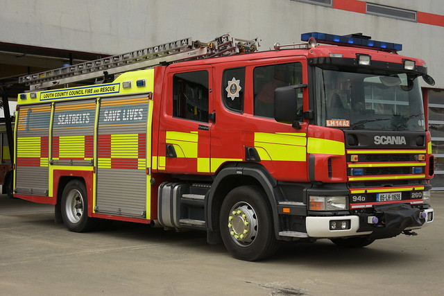 Louth County Council Fire & Rescue 2005 Scania 94D 260 TVAC Papworth WrL 05LH11628 (Ex Leicestershire)