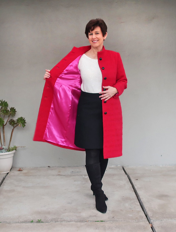 Red coat lining