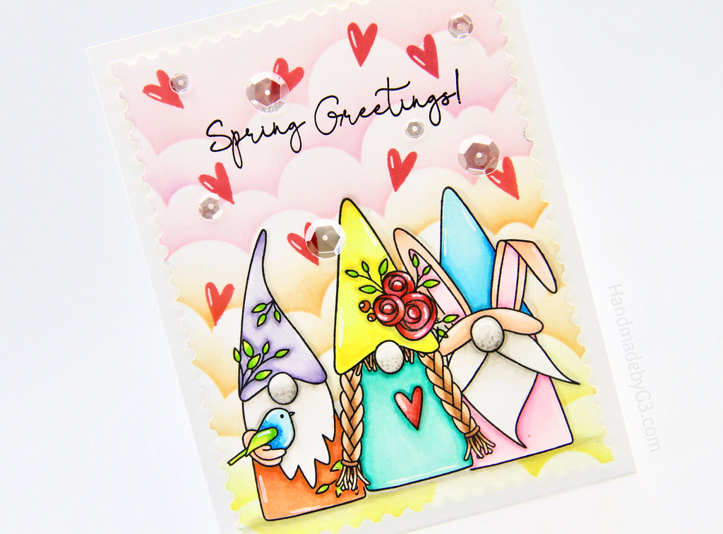 Spring Greetings card closeup3